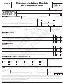 Form Obma - Obamacare Individual Mandate Tax Compliance Form - 2014