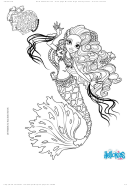 Sirena Von Boo Monster High Freaky Fusion Coloring Sheet