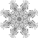 Intricate Flower Coloring Sheet