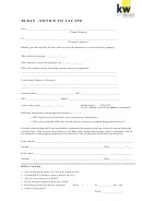 28 Day Notice To Vacate Form