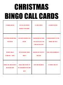 Christmas Bingo Call Card Template Set