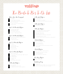 The Bride-to-be's To-do List Template