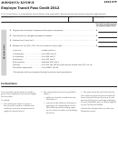Form Etp - Employer Transit Pass Credit - 2012