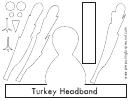 Turkey Headband Template