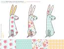 Easter Bunnies Template