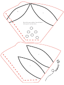 Coffee Filter Poinsettias Template