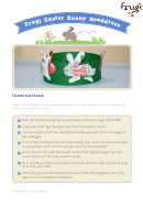 Easter Bunny Headdress Template