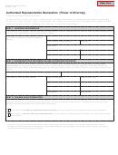 Form 151 - Authorized Representative Declaration (power Of Attorney)