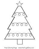 New Years Tree Coloring Sheet