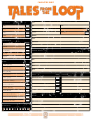 Tales From The Loop Character Sheet
