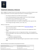 Passport Renewal Process Instructions - National Passport Processing Center, Pa