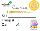 Girl Scouts Cookie Pick-up Delivery Dashboard Signs Template