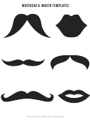 Mustache & Mouth Template Set