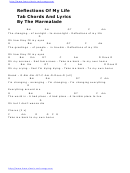 The Marmalade - Reflections Of My Life Guitar Chords Chart