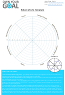 8 Categories Wheel Of Life Template - Own Your Goal