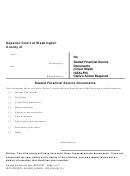 Sealed Financial Source Documents Checklist Form - Superior Court Of Washington