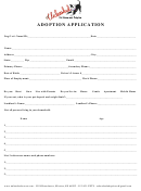 Adoption Application Form - Unleashed Pet Rescue And Adoption