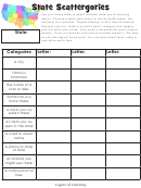 State Scattergories Template