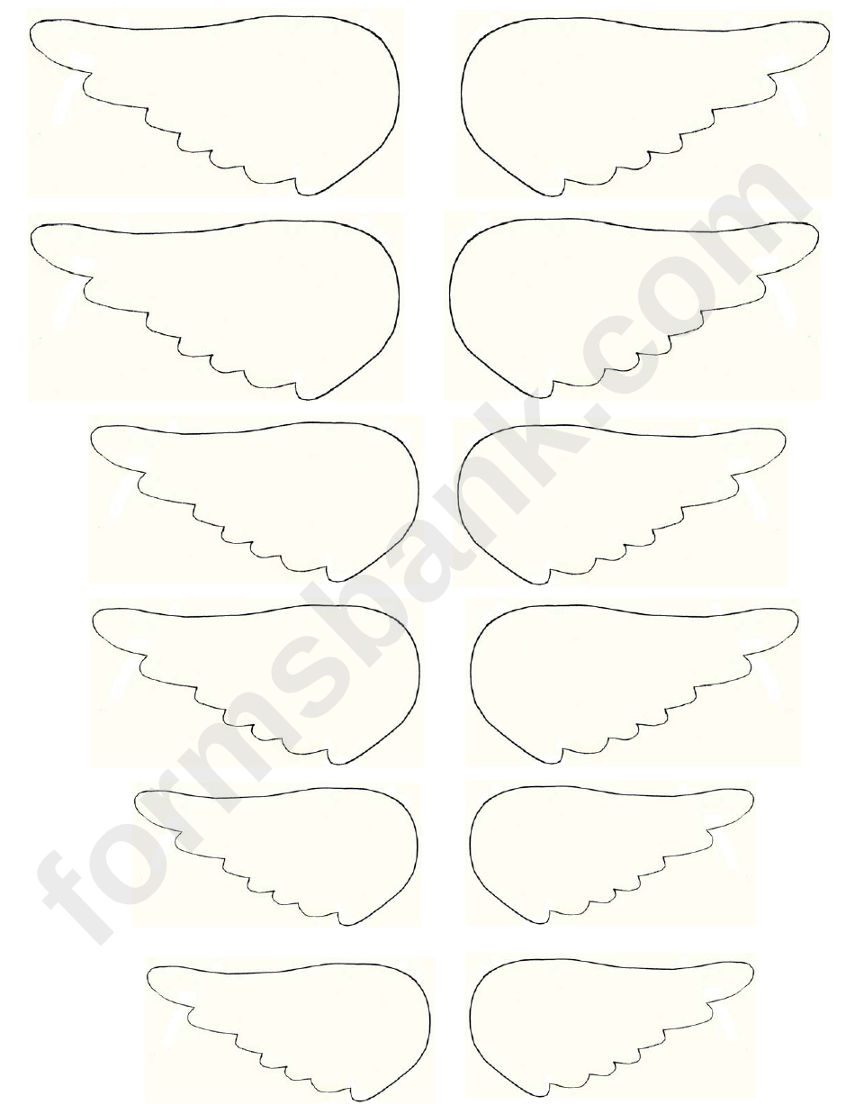graphic about Angel Wing Templates Printable named Tiny Angel Wing Template printable pdf obtain
