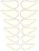 Small Angel Wing Template