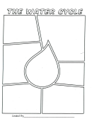 The Water Cycle - Coloring Sheet Template (raindrop)