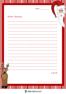 Christmas Lined Paper Border Template