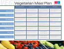 Vegetarian Daily Meal Plan Template