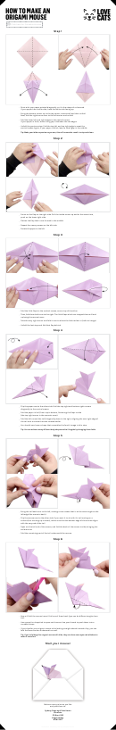 Make An Origami Mouse Template