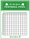 11x14 Football Game Pool
