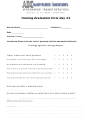 Training Evaluation Form - Chauffeured Limousines