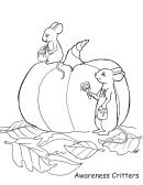Mice And The Pumpkin Coloring Sheet