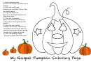 My Gospel Pumpkin Coloring Sheet