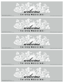 Welcome To Our Wedding Sign Template
