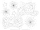 2016 Happy New Year Coloring Sheet