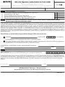 Form 8879-pe - Irs E-file Signature Authorization For Form 1065 - 2013