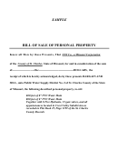 Sample Bill Of Sale Of Personal Property - Missouri