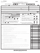 Form Fit-20 - Indiana Financial Institution Tax Return - 2014