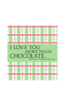 Valentine Chocolate Wrappers And Gift Tag Template