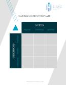 Caring Matrix Template - His Way At Work