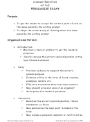 Characteristics Of The Persuasive Essay Template