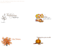 Tree And Autumn Leaves Thanksgiving Place Card Templates