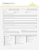 Website Marketing Creative Brief Template - Ripeconcepts