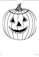 Jack-o-lantern Pumpkin Coloring Sheet - Hellokids
