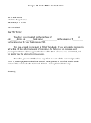Nsf Check Letter With Demand For Payment