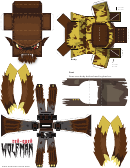 Wolfman Halloween Paper Crafts