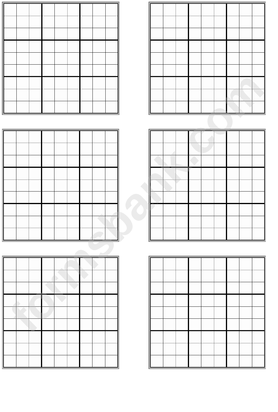 blank sudoku template