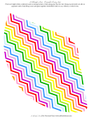Rainbow Zigzag Party Hat With Template