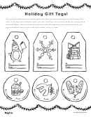 Christmas Black And White Gift Tags Template