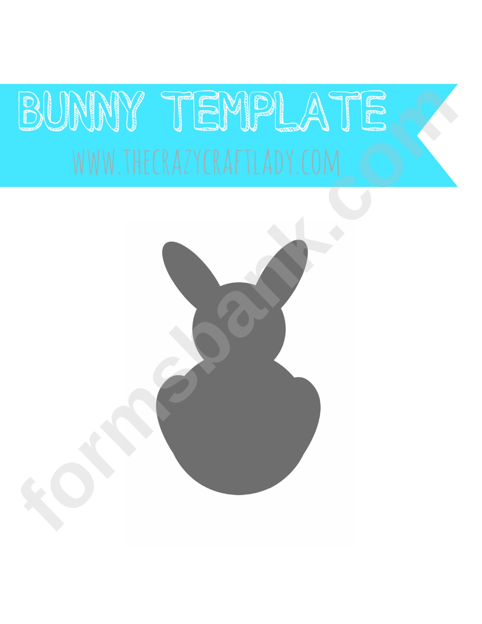 photograph about Bunny Silhouette Printable referred to as Bunny Silhouette Template printable pdf obtain