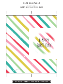 Happy Birthday Pull Card Template